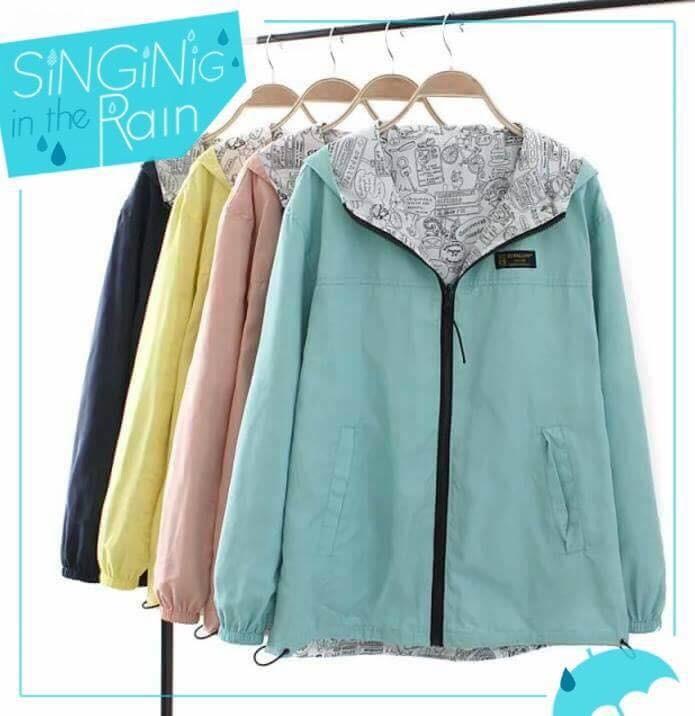 日系風格可雙面穿的時尚百搭外套