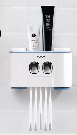 牙刷置物及自動擠牙膏組