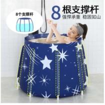 (免運商品)新款8角大容量摺疊免充氣浴澡桶 690元含運