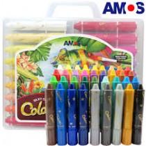 韓國AMOS 36色粗款神奇水蠟筆