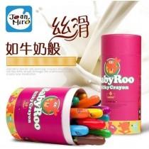 西班牙美樂 寶寶絲滑無毒水洗蠟筆6色