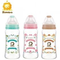 小獅王辛巴 蘿蔓晶鑽寬口玻璃大奶瓶270ml