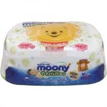 日本進口正版 POOH 維尼熊 99%純水80抽濕紙巾及盒