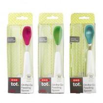 美國 OXO tot 攜帶型湯匙一入 付盒 學習湯匙
