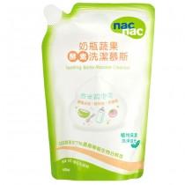 NAC NAC奶瓶蔬果酵素洗潔慕斯補充包600m(2包入)