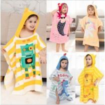 外貿割絨100%純棉兒童浴袍