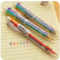 6色按壓原子筆 1組5入
