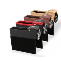汽車座椅縫隙飲料雜物零錢皮革材質收納盒