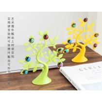 創意幸運樹瓢蟲磁鐵相片/留言夾