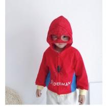 INS英雄聯盟兒童冬季加絨加厚連帽拉鍊外套