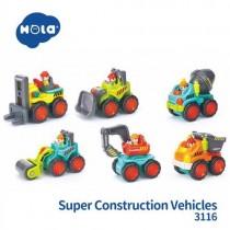 HOLA幼兒玩具-工程車小車車6台