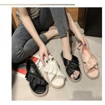 [免運商品] 仙女風夏季果凍二用花邊涼拖鞋