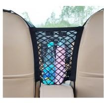 汽車椅間/椅背雙層置物隔離網