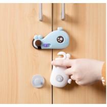 鯨魚造型抽屜櫥櫃安全鎖3入組