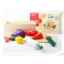 蔬菜/水果磁性木製切切樂玩具