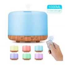 大容量1000ml 可遙控木紋水氧加濕器