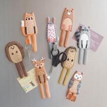 [免運商品] 療癒系動物冰箱磁鐵掛鉤 8個1組