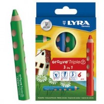 【德國LYRA】GROOVE(3合1)胖胖三角洞洞筆(6色)