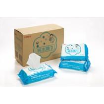 優美科80抽超厚純水濕紙巾1箱12包裝